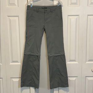PrAna gray convertible zip off hiking pants